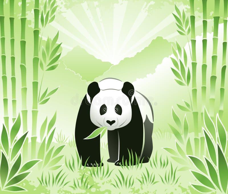 Rencontrez le panda en bambou illustration stock