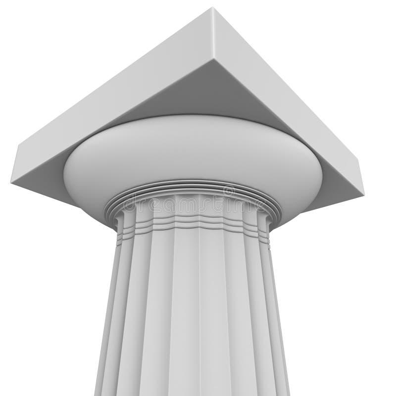 Renda da coluna Doric arcaica grega ilustração do vetor