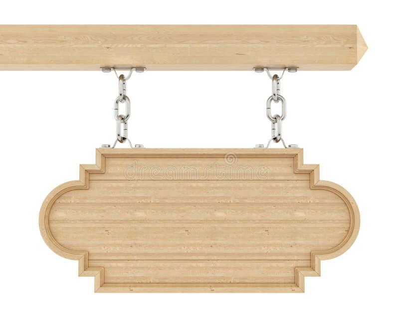 Renda de um sinal de madeira ilustração royalty free