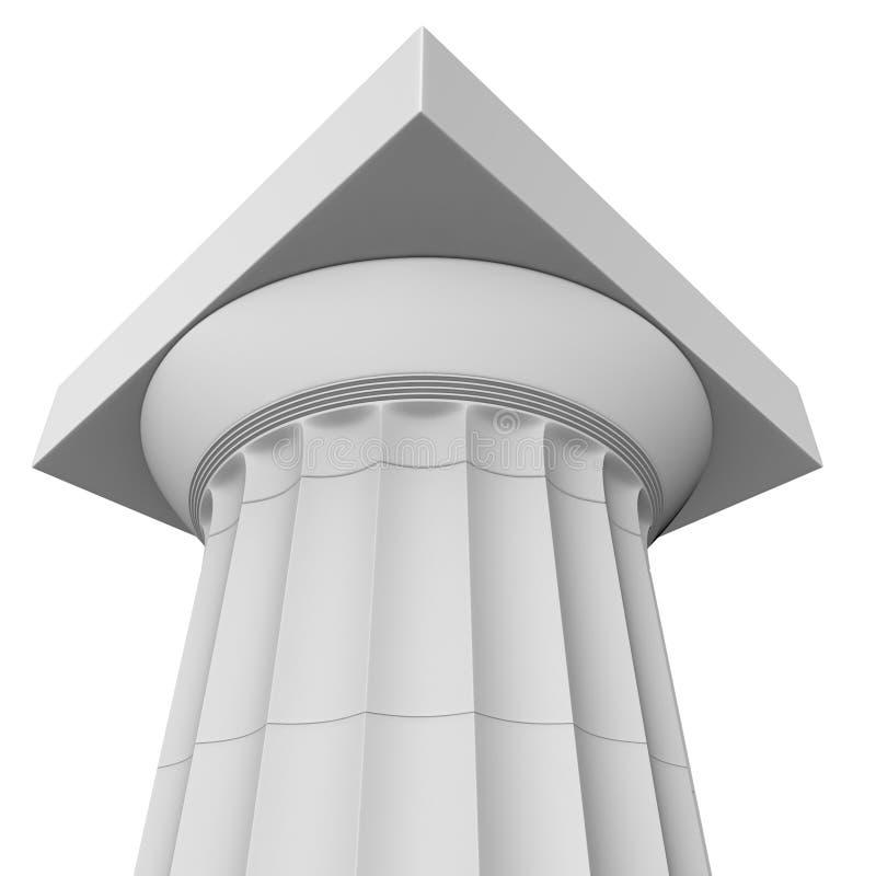 Renda de uma coluna Doric grega clássica ilustração royalty free