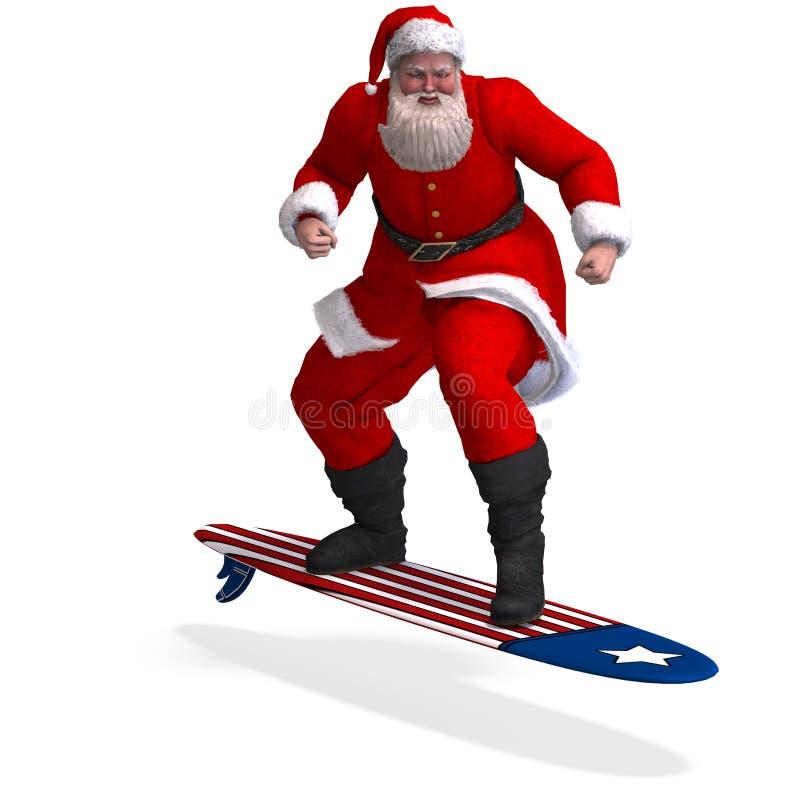 Renda del Babbo Natale - natale allegro illustrazione di stock