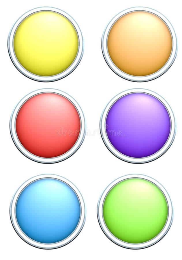 Renda di 6 tasti colorati Rainbow rotondo illustrazione vettoriale