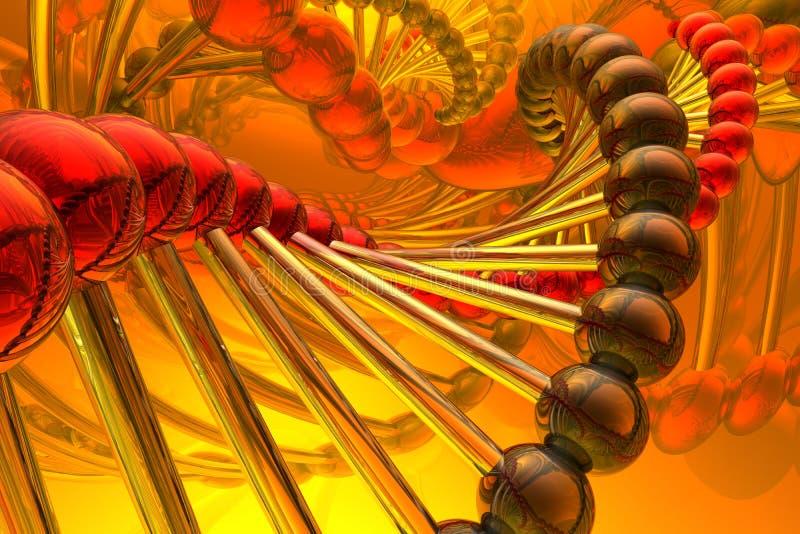 Renda do ADN ilustração stock