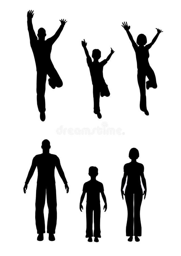 Renda a família ilustração royalty free