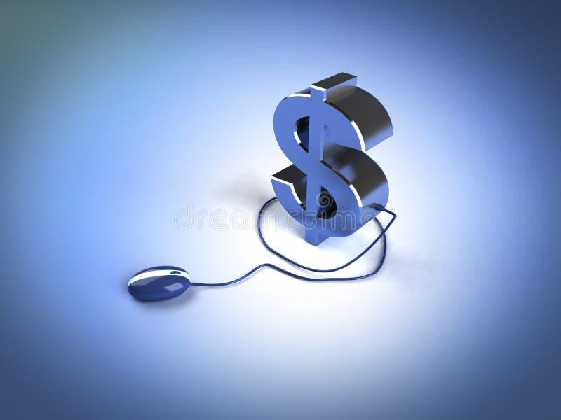 Renda i soldi in linea fotografie stock