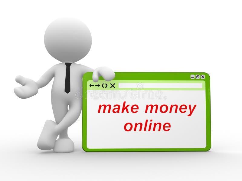 Renda i soldi in linea royalty illustrazione gratis