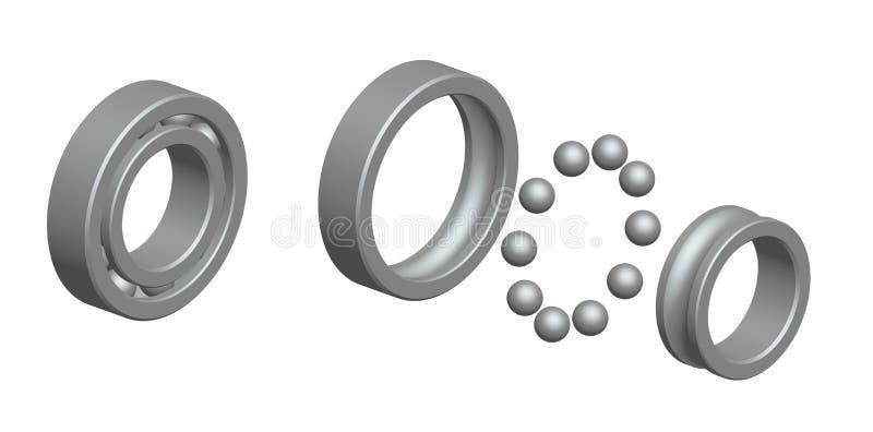 Renda: rolamento de esferas ilustração royalty free