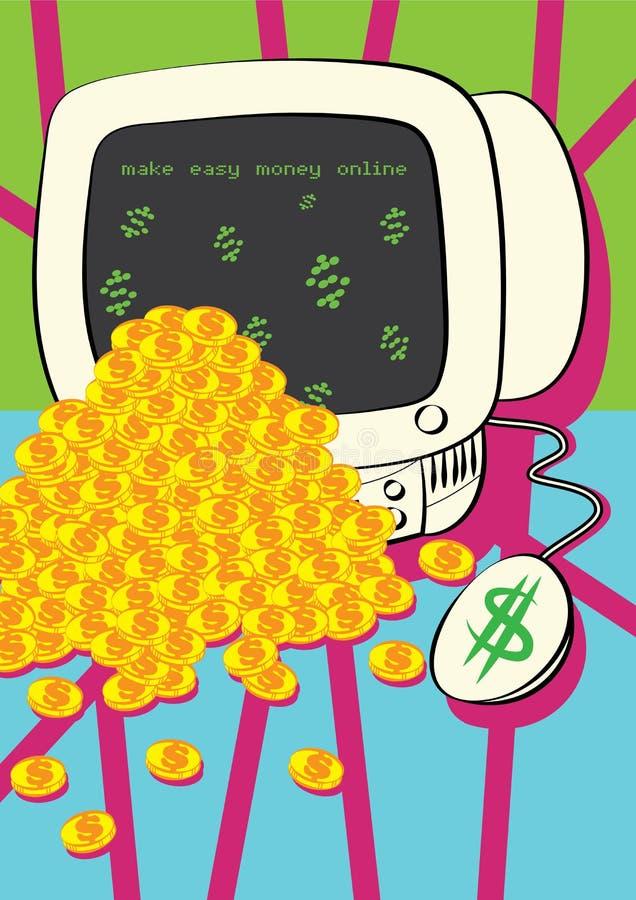 Renda a soldi il concetto online illustrazione di stock