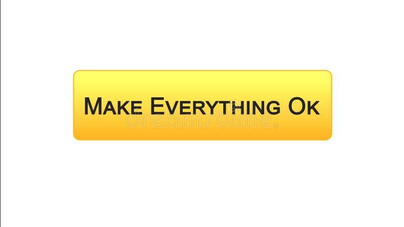 Renda tutto il bottone giusto dell'interfaccia di web colore arancio, progettazione del sito internet royalty illustrazione gratis