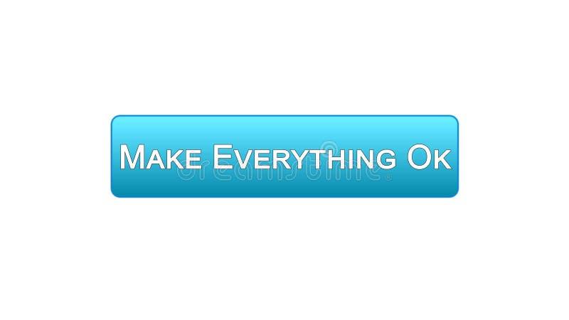 Renda tutto il bottone giusto dell'interfaccia di web colore blu, progettazione del sito internet illustrazione vettoriale