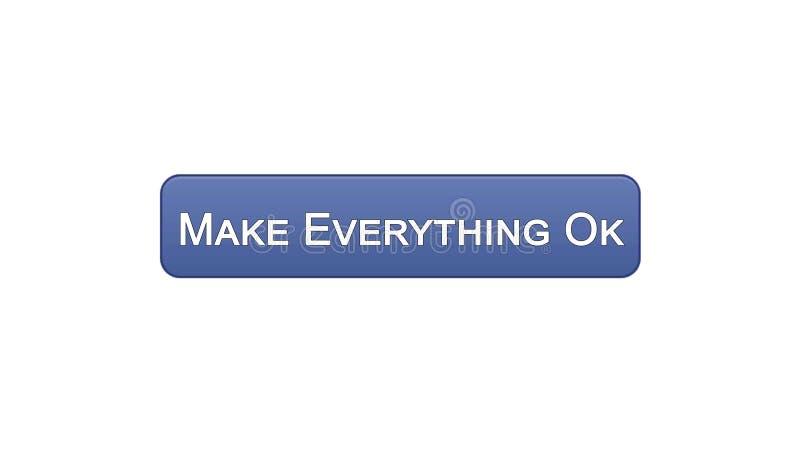 Renda tutto il bottone giusto dell'interfaccia di web colore viola, progettazione del sito internet illustrazione di stock