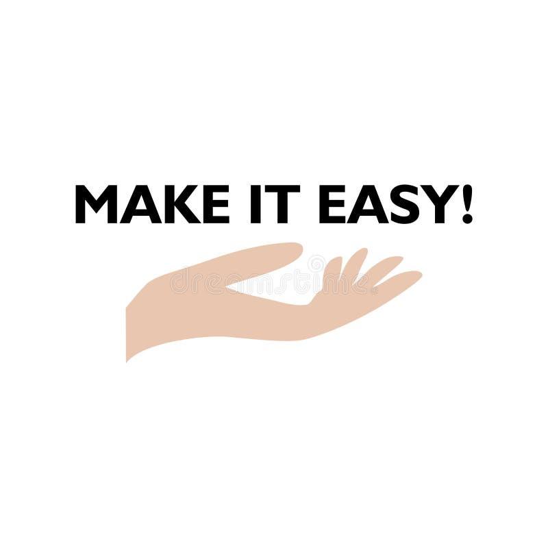 Rendagli l'icona facile, il segno, logo Concetto di affari illustrazione di stock