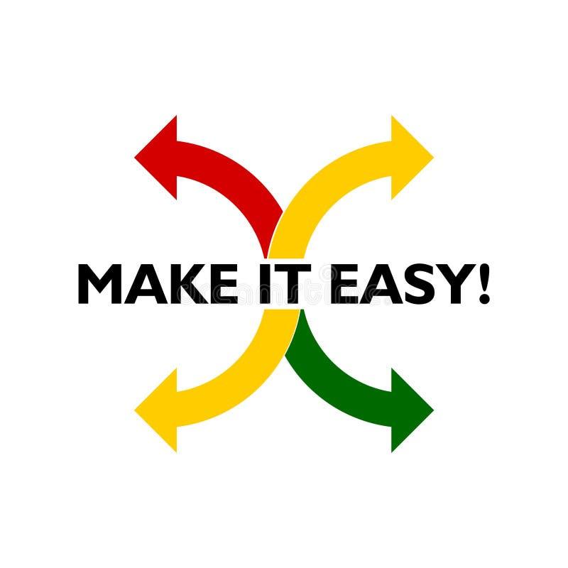 Rendagli l'icona facile, il segno, logo Concetto di affari illustrazione vettoriale