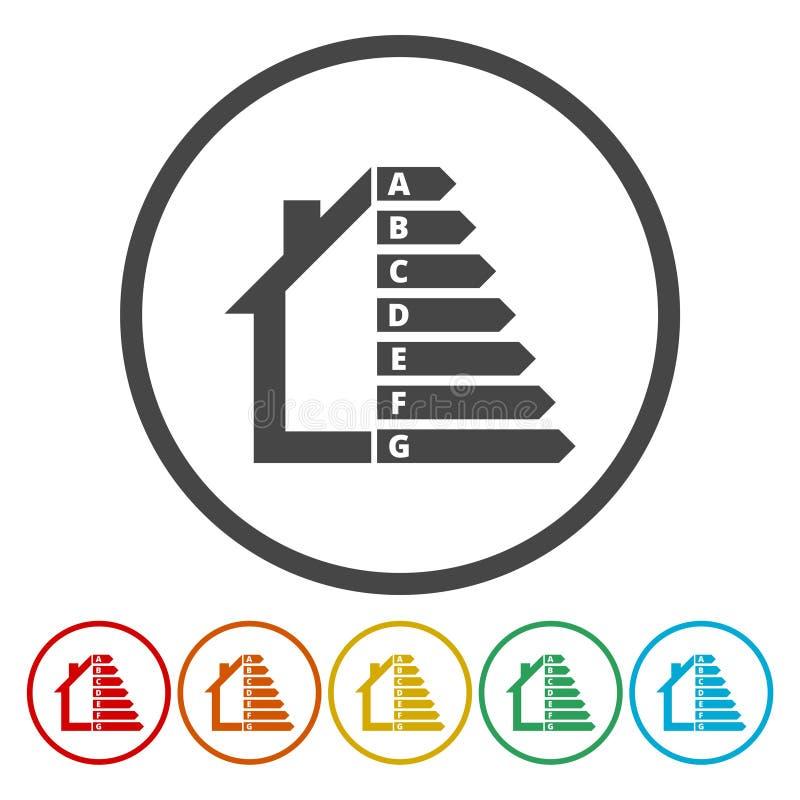 Rendement énergétique et concept d'amélioration de l'habitat illustration de vecteur