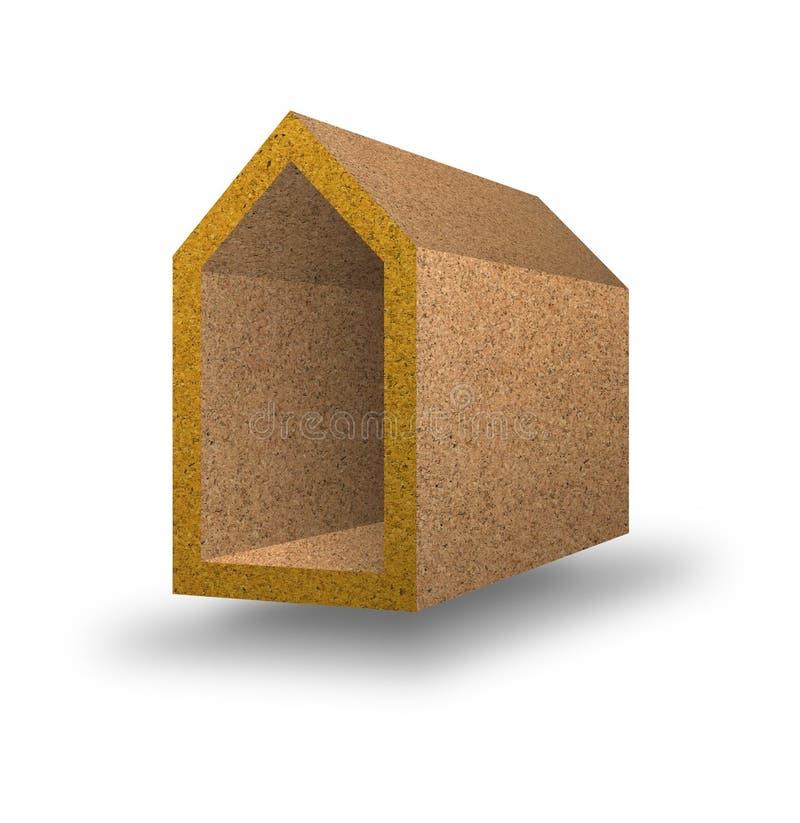 Rendement énergétique - image de concept avec les maisons colorées dans le corck illustration libre de droits