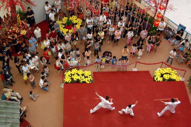 Rendement chinois d'art martial image libre de droits