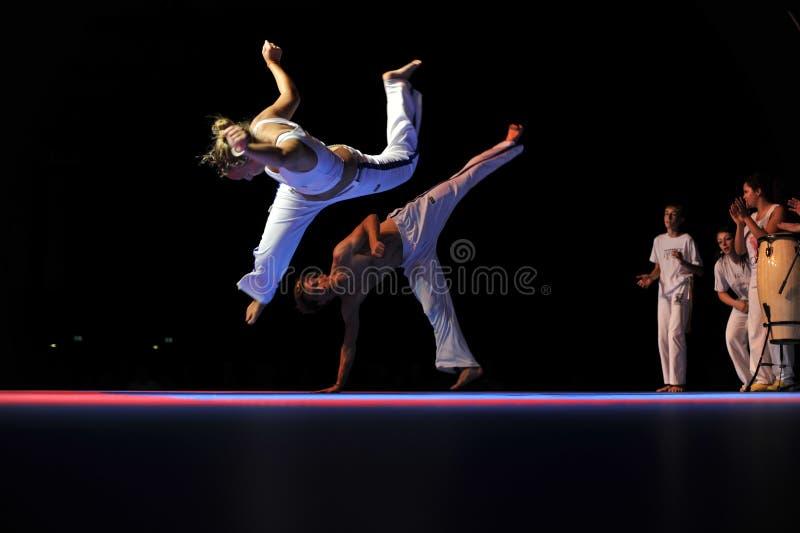Rendement de Capoeira photos stock