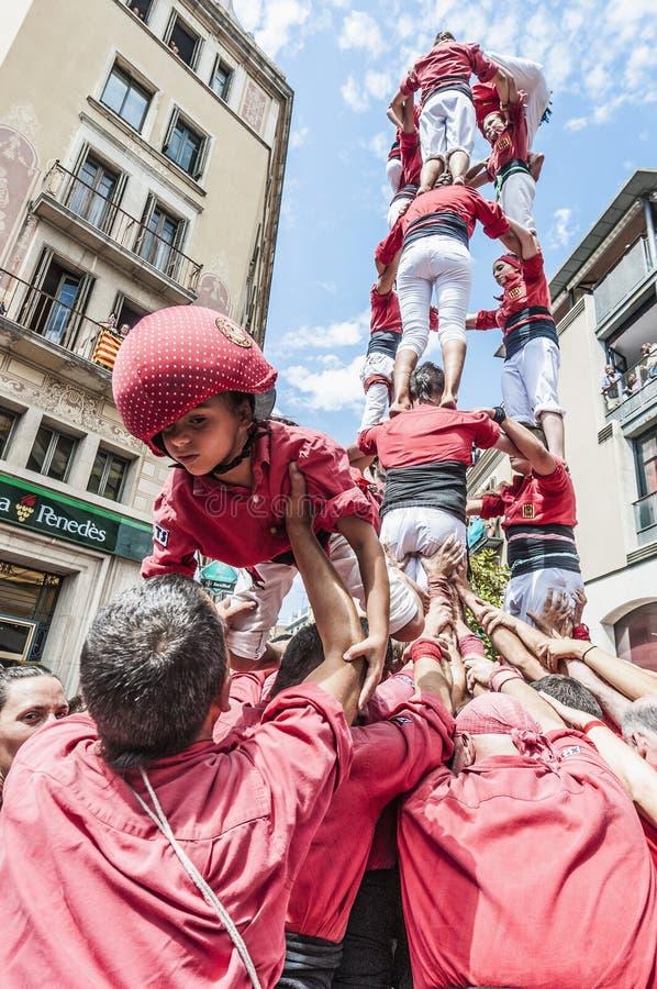 Rendement de Cercavila chez le commandant de Vilafranca del Penedes Festa photographie stock libre de droits