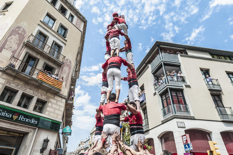 Rendement de Cercavila en Vilafranca del Penedes photographie stock libre de droits