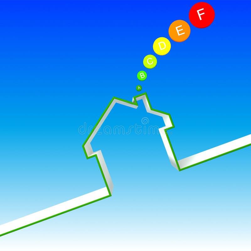 Rendement de maison d'énergie illustration stock