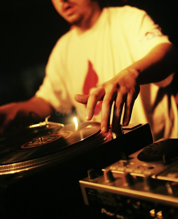 Rendement du DJ images libres de droits