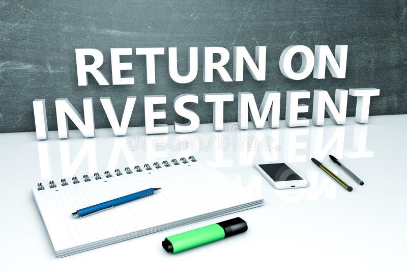 Rendement van investering stock illustratie