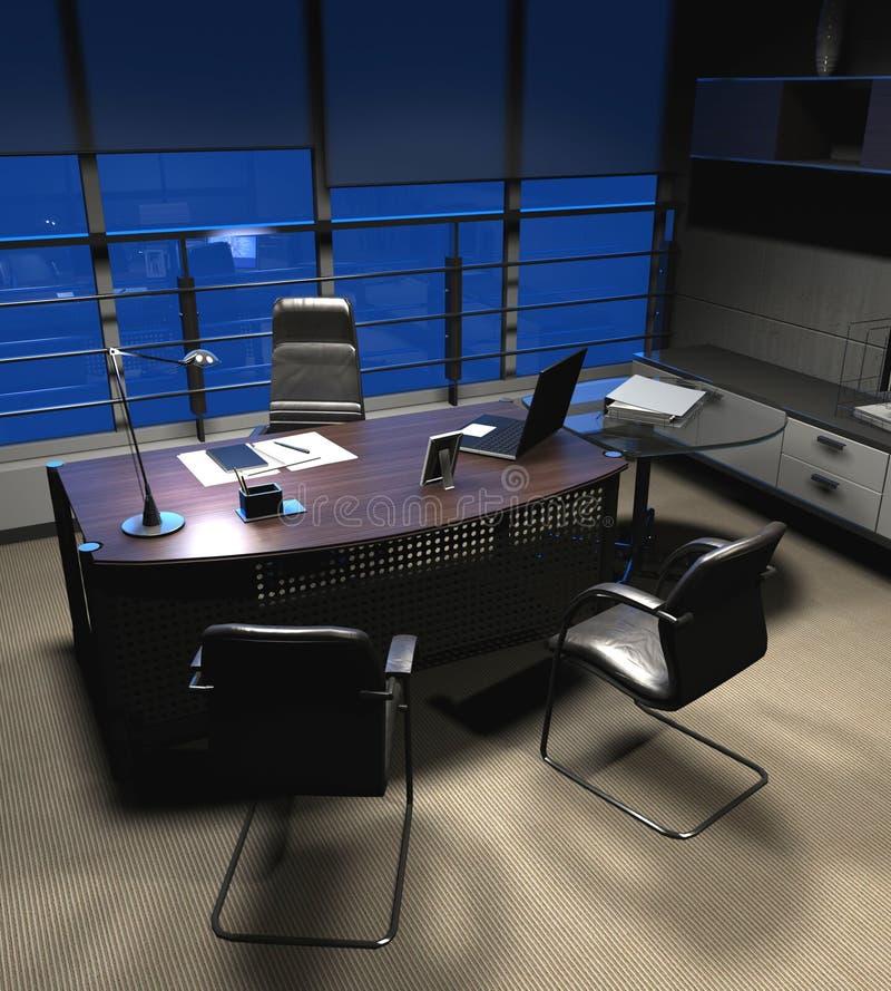 Rendendo o escritório moderno ilustração stock