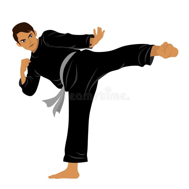 Vector of Silat Martial Arts from Indonesia - Pose 9 royalty free stock images