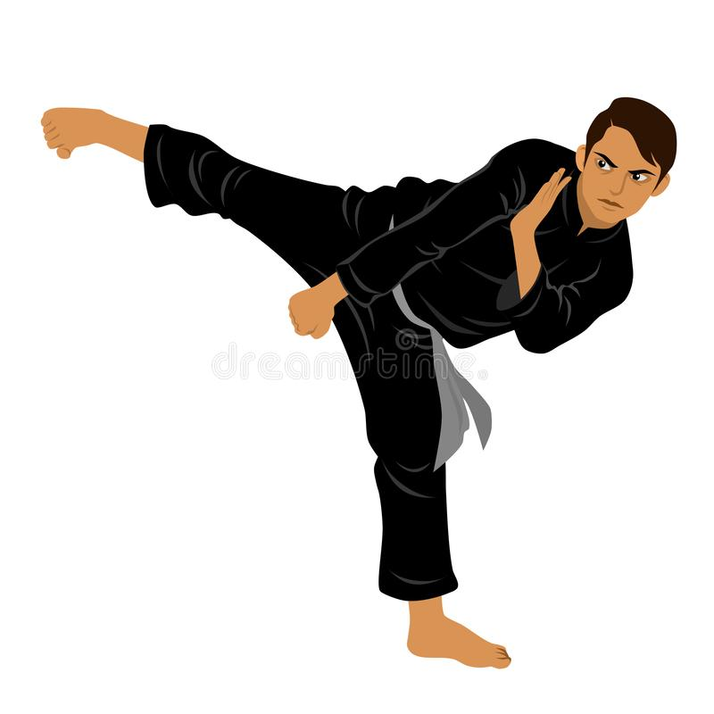 Vector of Silat Martial Arts from Indonesia - Pose 7 royalty free stock images