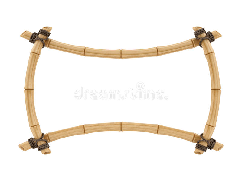 Render of a bamboo frame stock illustration