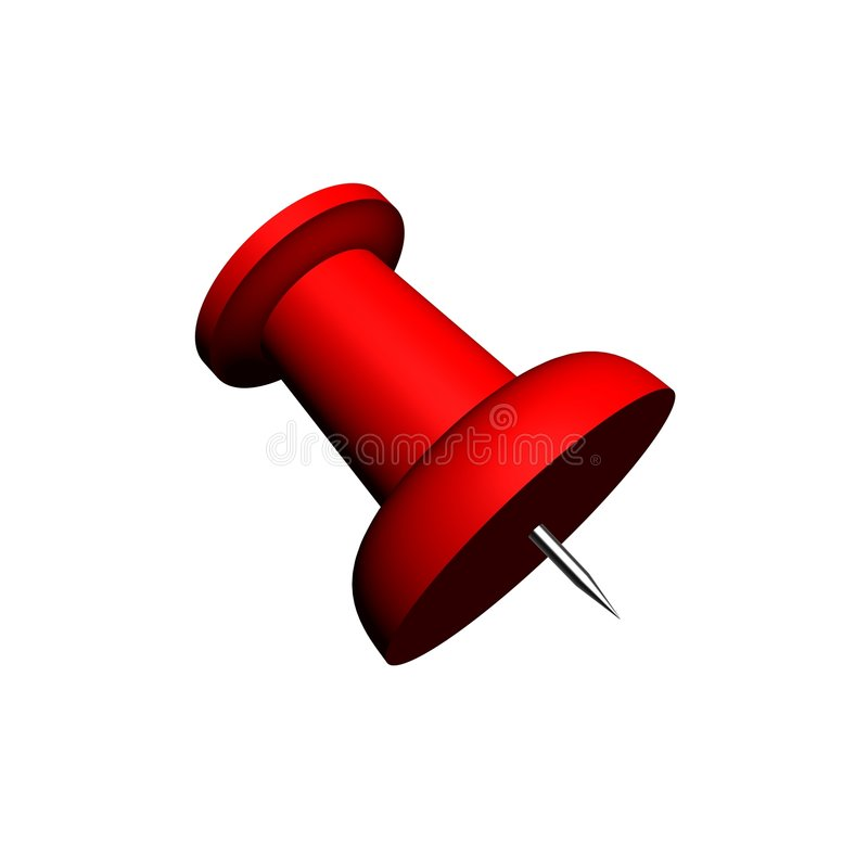 Render of a big red office pushpin
