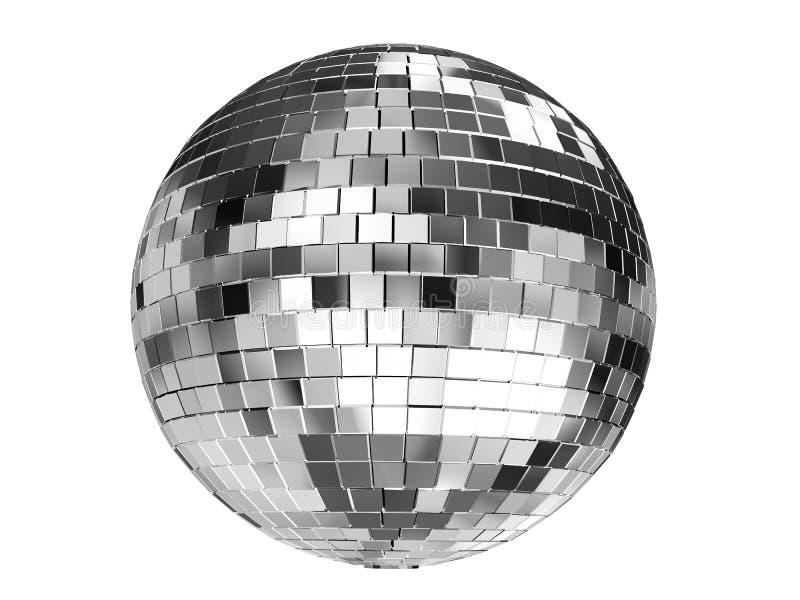 Render 3d-Abbildung des auf weißem Hintergrund isolierten Disco-Balls vektor abbildung