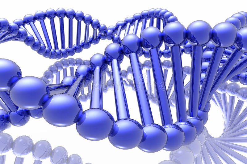 Render Of DNA Royalty Free Stock Image