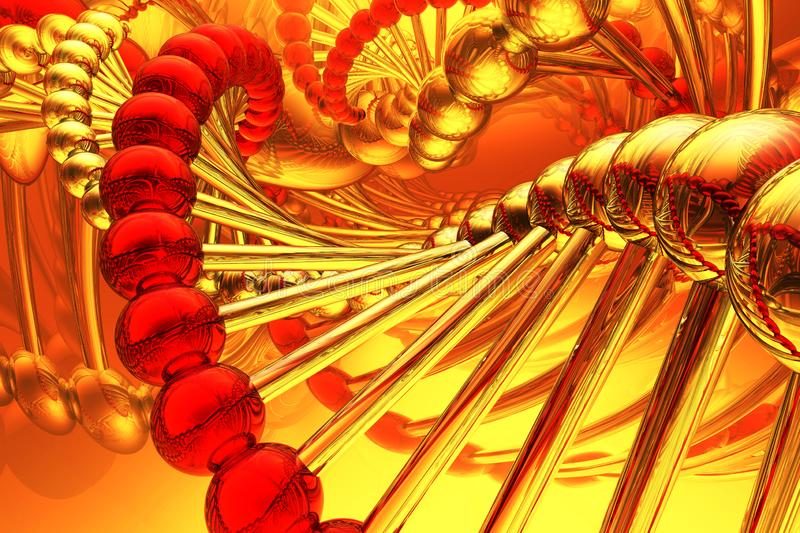Render of DNA structure. Abstract background, 3d royalty free stock photography