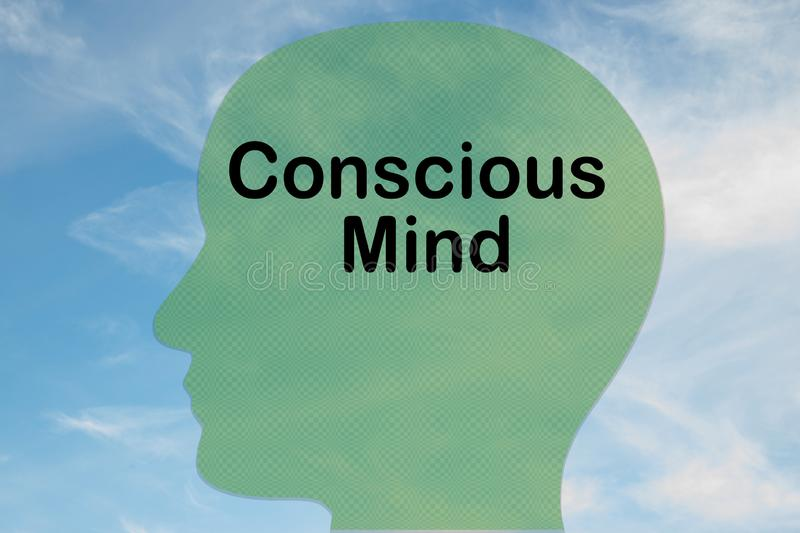 Conscious Mind concept stock photos