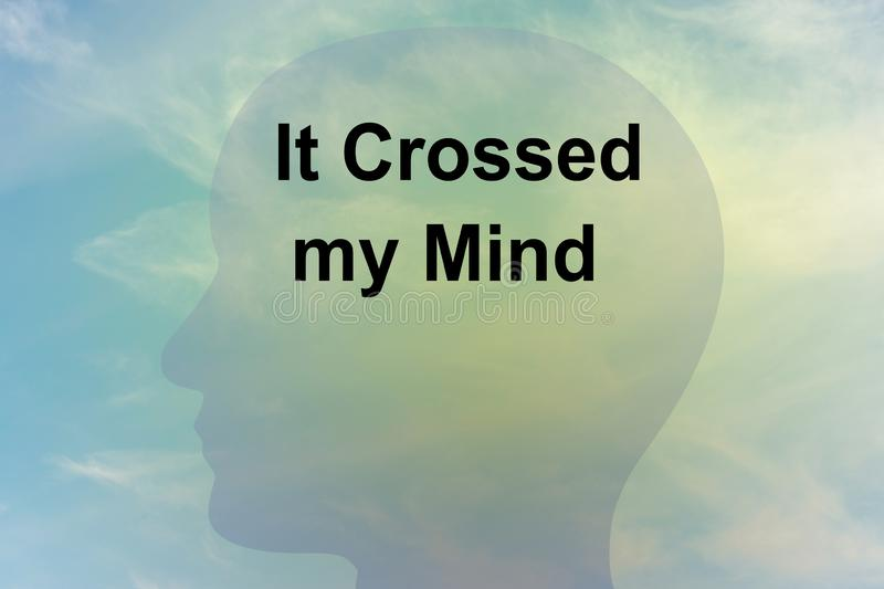 It Crossed my Mind concept royalty free stock photos