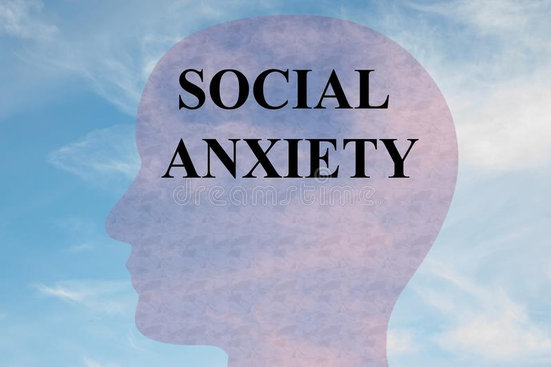 Social Anxiety concept royalty free illustration