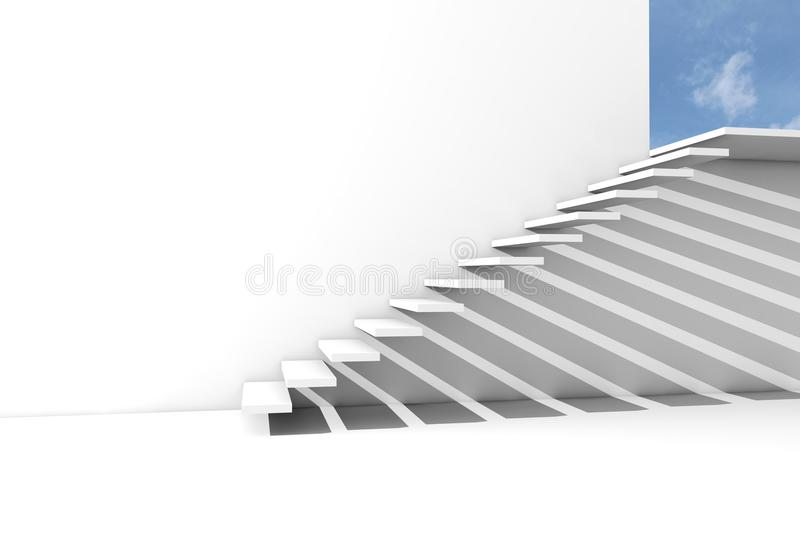 Render Of A Stairway To The Blue Sky Royalty Free Stock Images