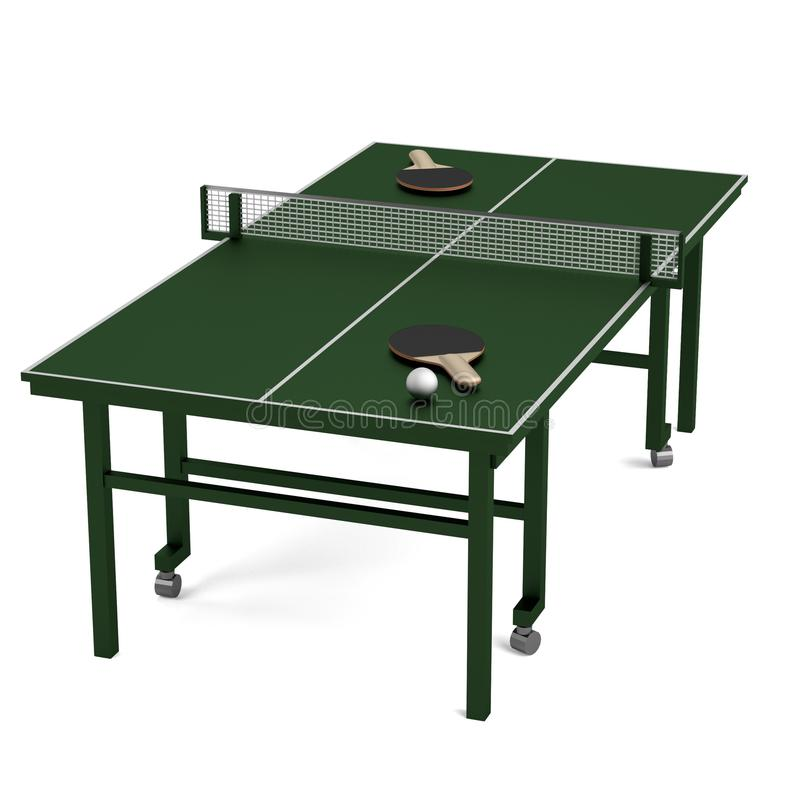 Render of table tennis stock illustration