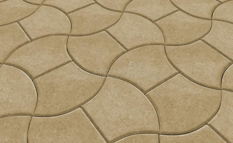 Render of yellow lock paving texture. 3D realistic render of yellow lock paving texture royalty free illustration