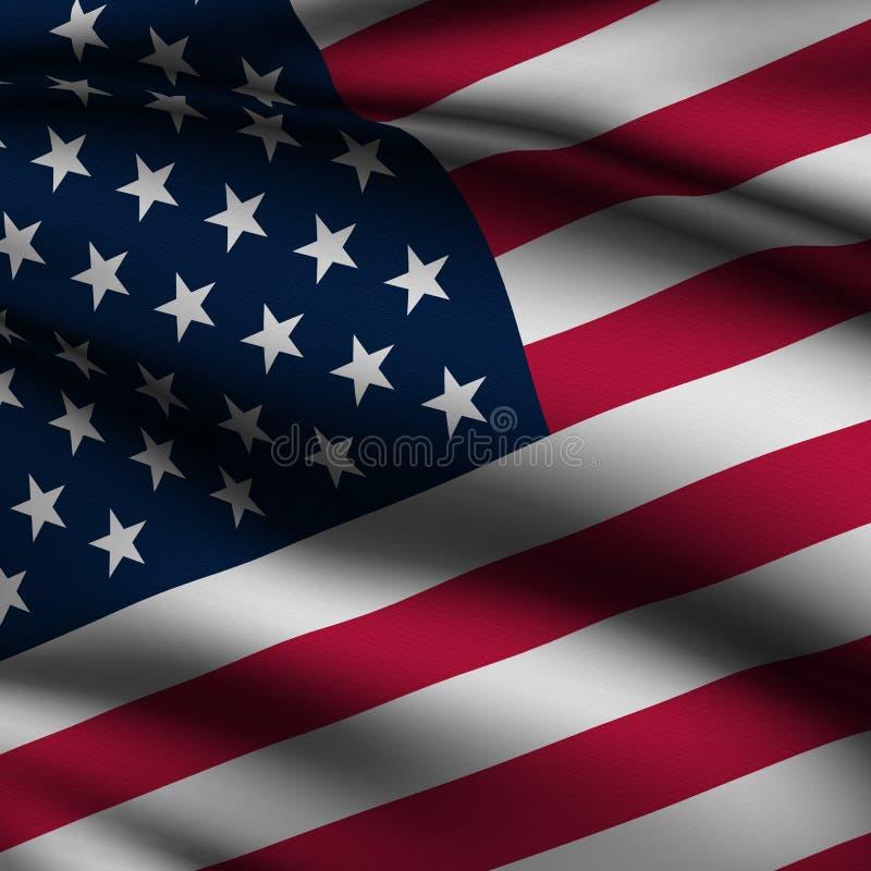 Rendered American Square Flag stock illustration