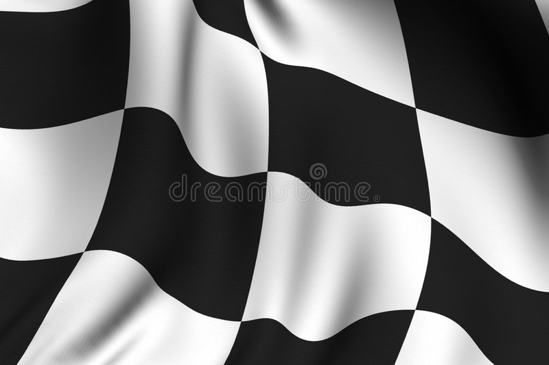 Rendered Chequered Flag Royalty Free Stock Photo