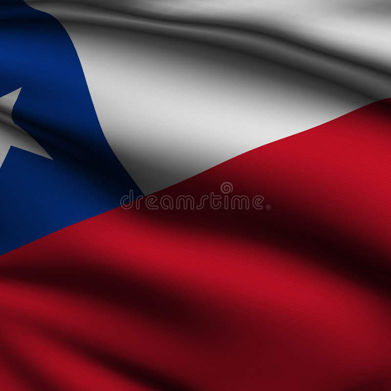 Rendered Chilean Square Flag