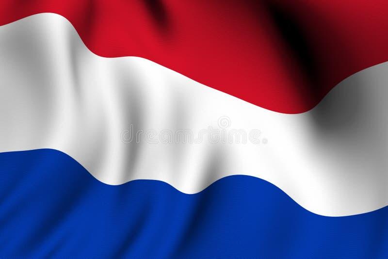Rendered Dutch Flag stock illustration