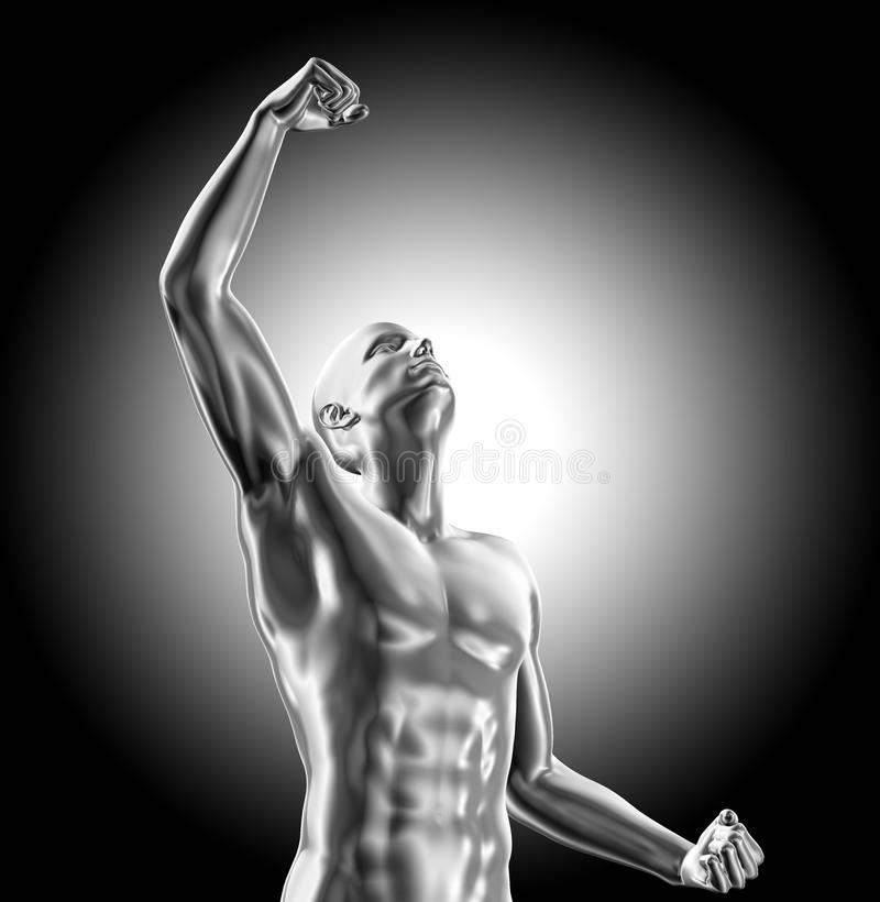 Rendered illustration success and power concept royalty free illustration