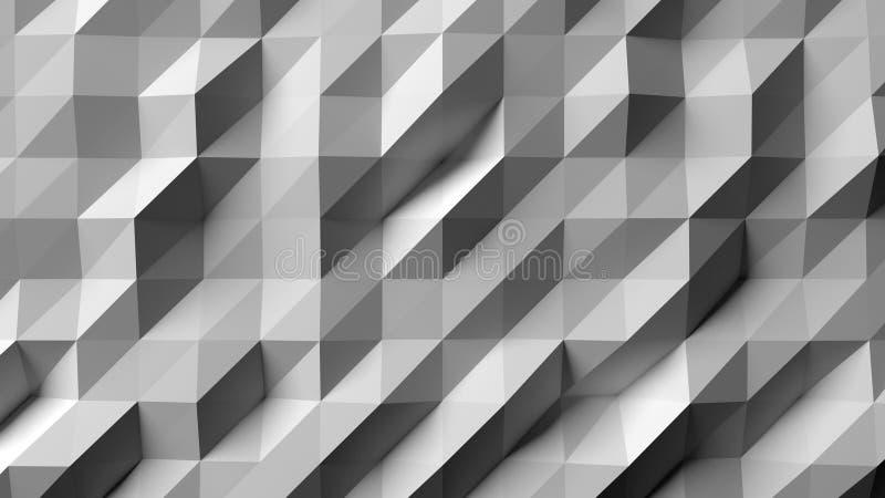 White abstract geometric art, background, wallpaper. Render. vector illustration