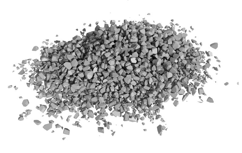 Download Rendered Image Of Rock Rubble Royalty Free Stock Image - Image: 24291746