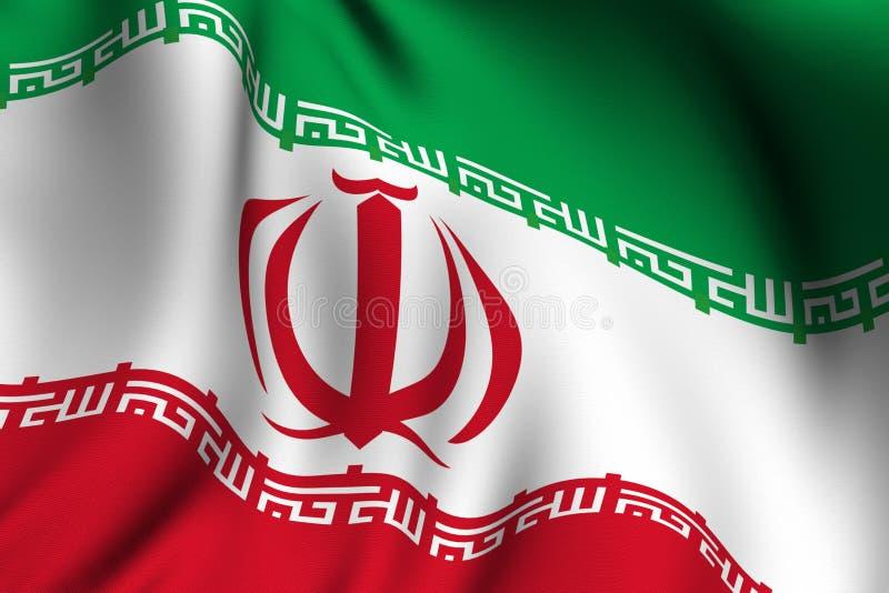 Rendered Iranian Flag royalty free illustration