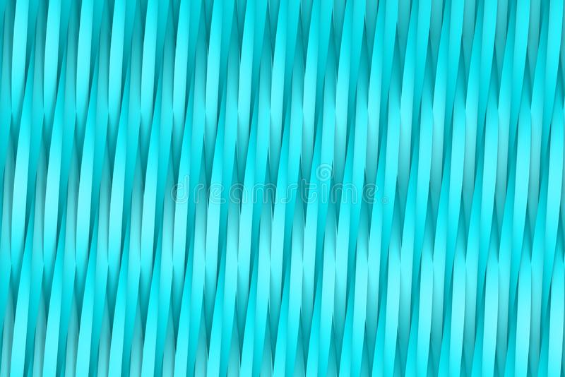 Rendered light blue 3D Illustration of abstract background - volumetric surfaces formed with extruded star shape, xmas or veterans. Volumetric surfaces formed royalty free illustration