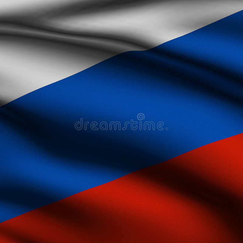 Download Rendered Russian Square Flag Stock Illustration - Image: 6554918